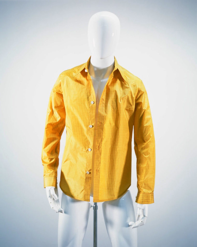 NAMACHEKO NARROW CLASSICAL SHIRT YELLOW