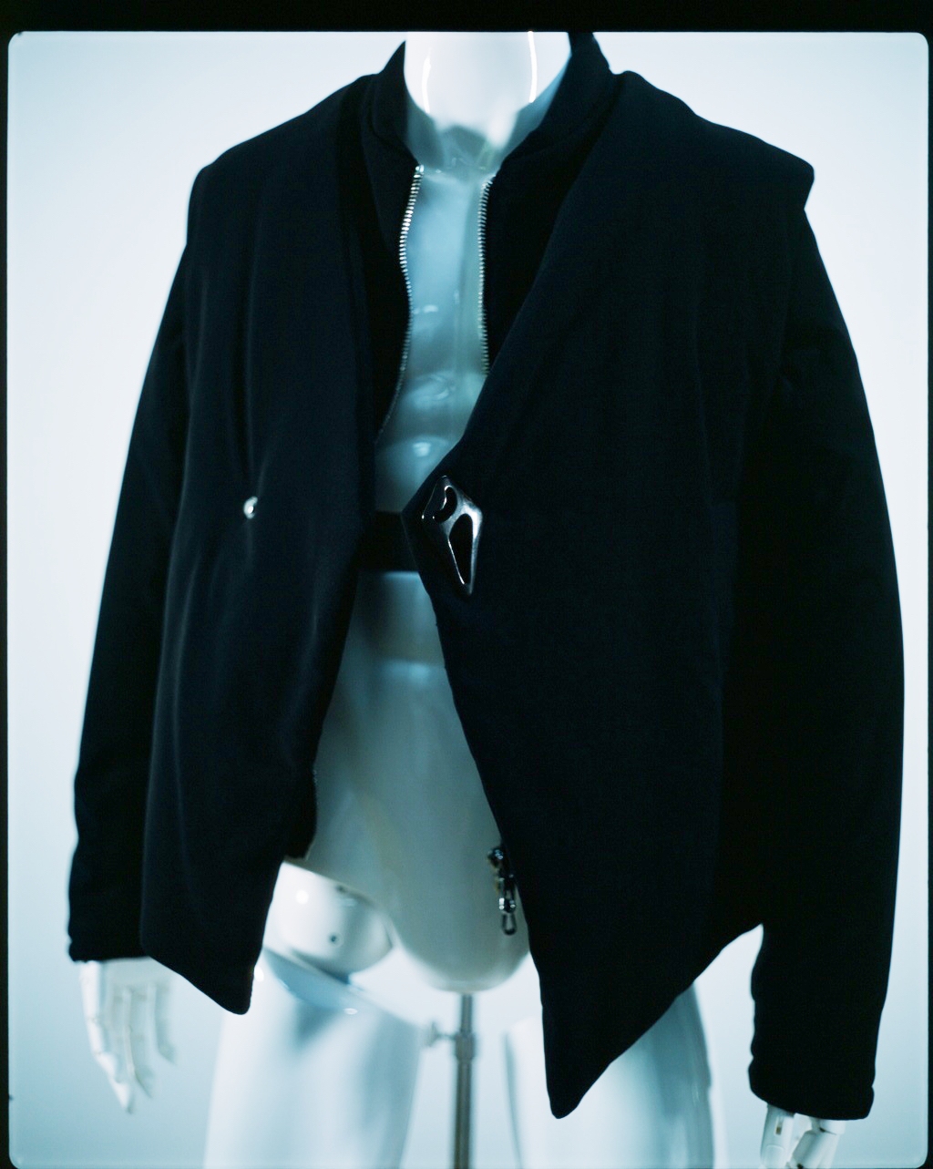 NAMACHEKO ASSYMETRIC BARBARA JACKET BLUE