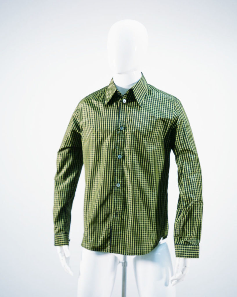 NAMACHEKO NARROW CLASSICAL SHIRT GREEN