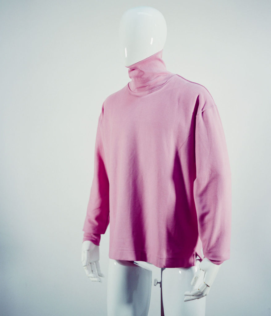 LEMAIRE ROLL NECK TEE-SHIRT PINK