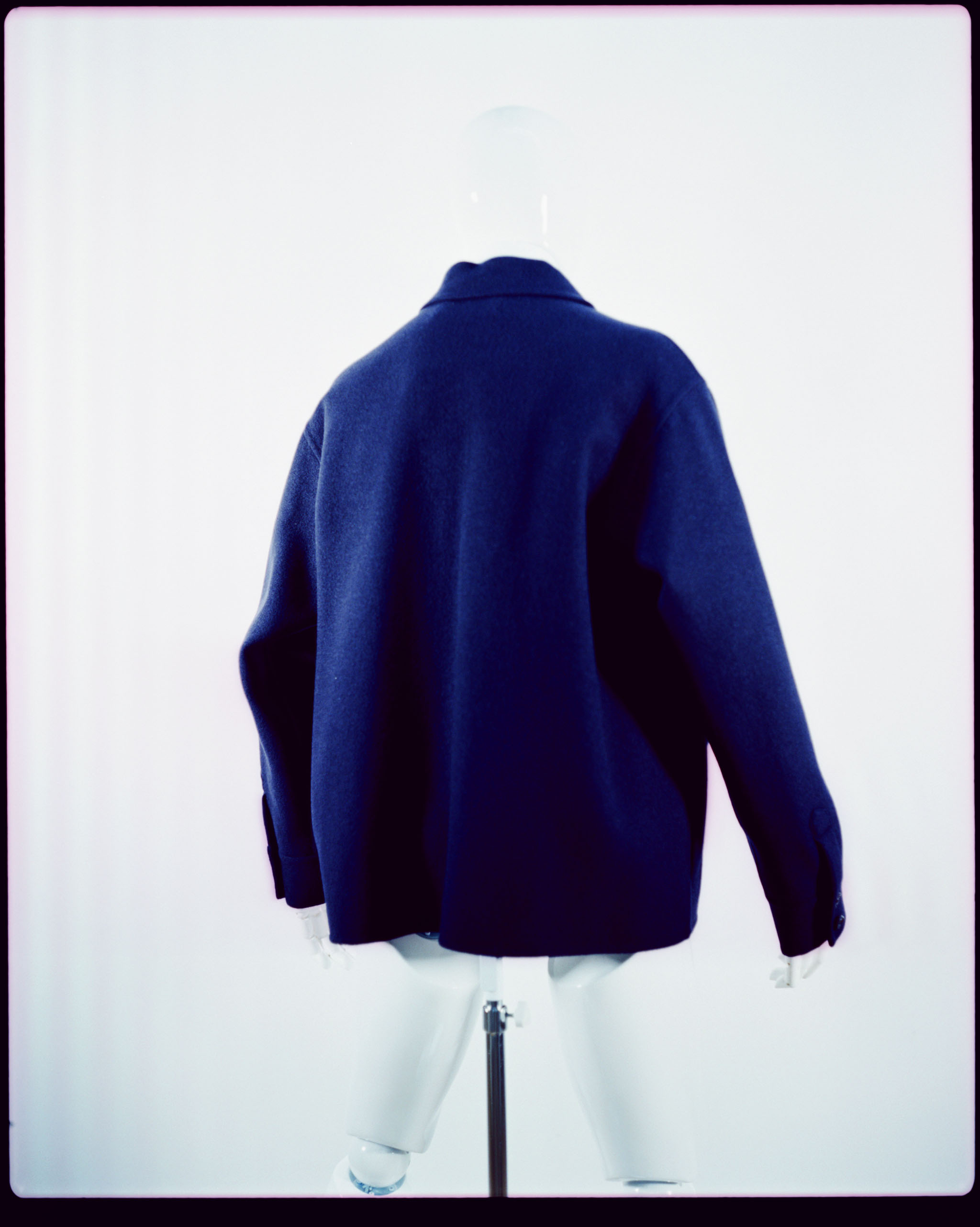 MARNI DOUBLE FACE FELTED ZIP BLOUSON BLUE NAVY