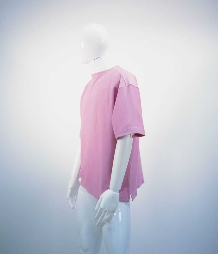 LEMAIRE BOAT-NECK SHORT SLEEVES PINK