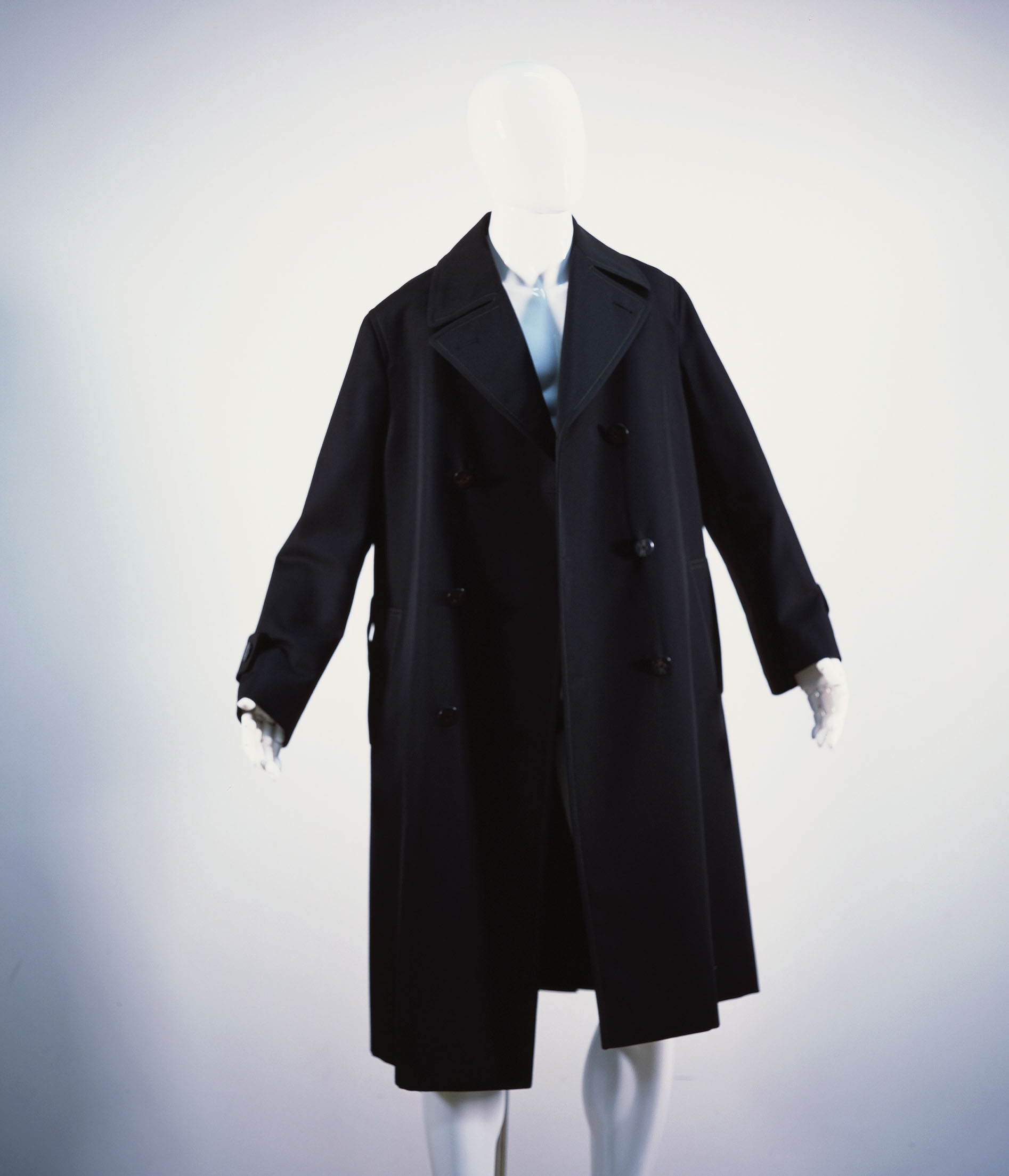 MARNI WOOL GABARDINE DOUBLE COAT CLAY