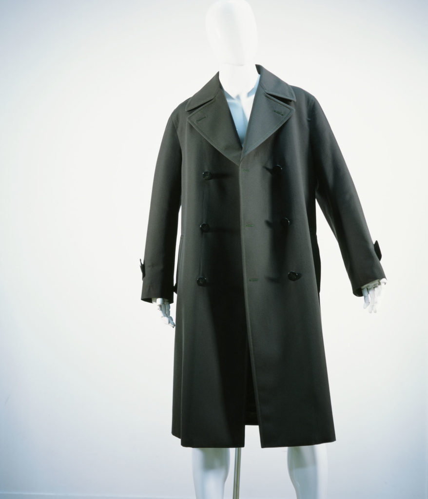 MARNI WOOL GABARDINE DOUBLE COAT JUNGLE
