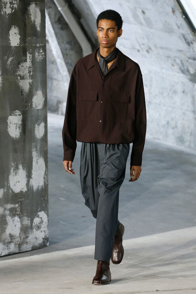 LEMAIRE 4-POCKETS OVER SHIRT DARK BROWN