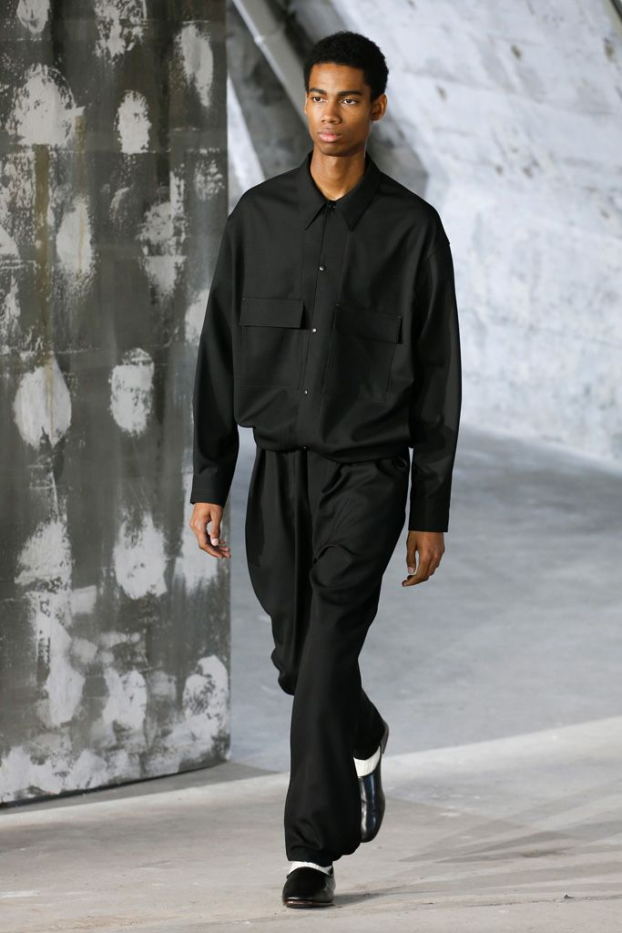 LEMAIRE 4-POCKET OVER SHIRT BLACK