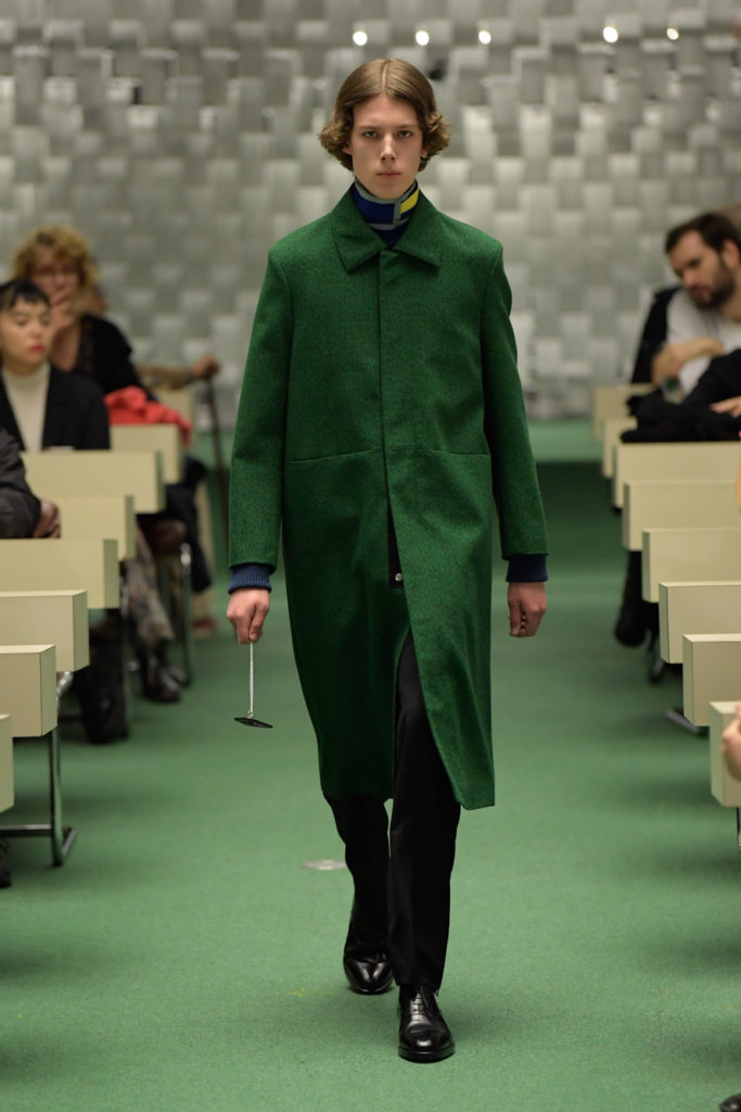 NAMACHEKO LONG LINE COAT GREEN