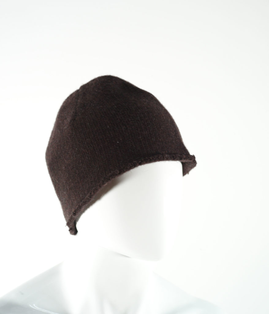MARNI WOOL JERSEY HAT BROWN