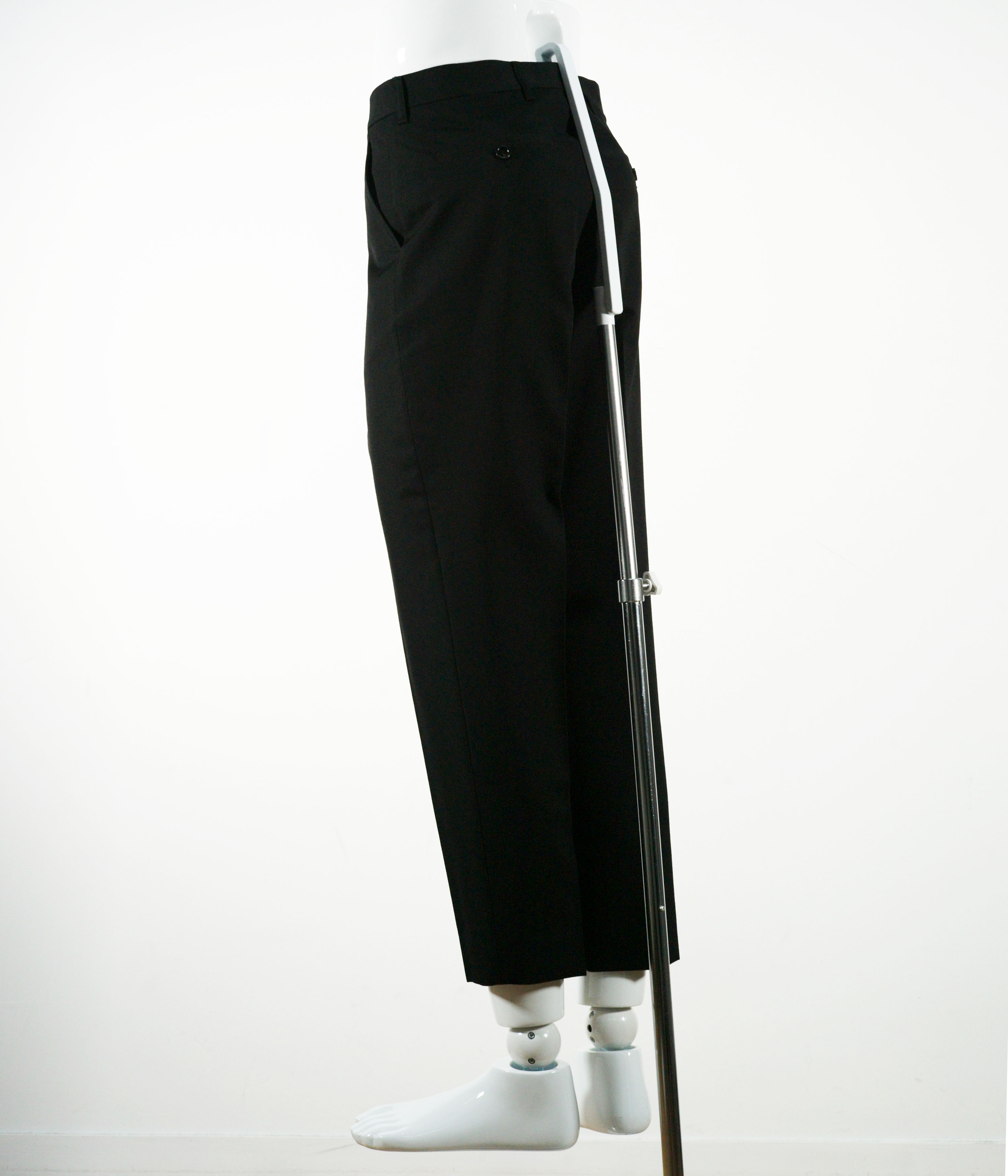 MARNI WOOL GABARDINE TROUSER BLACK