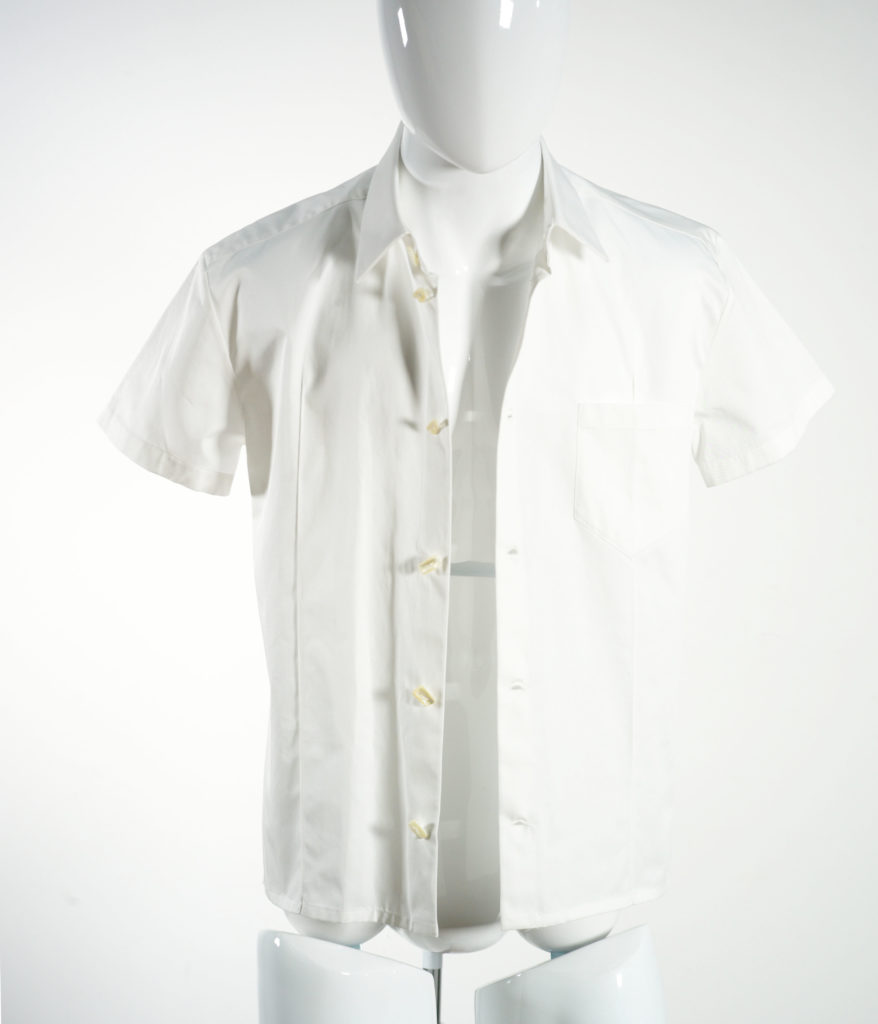 NAMACHEKO KAJAL SHORT SLEEVE SHIRT WHITE