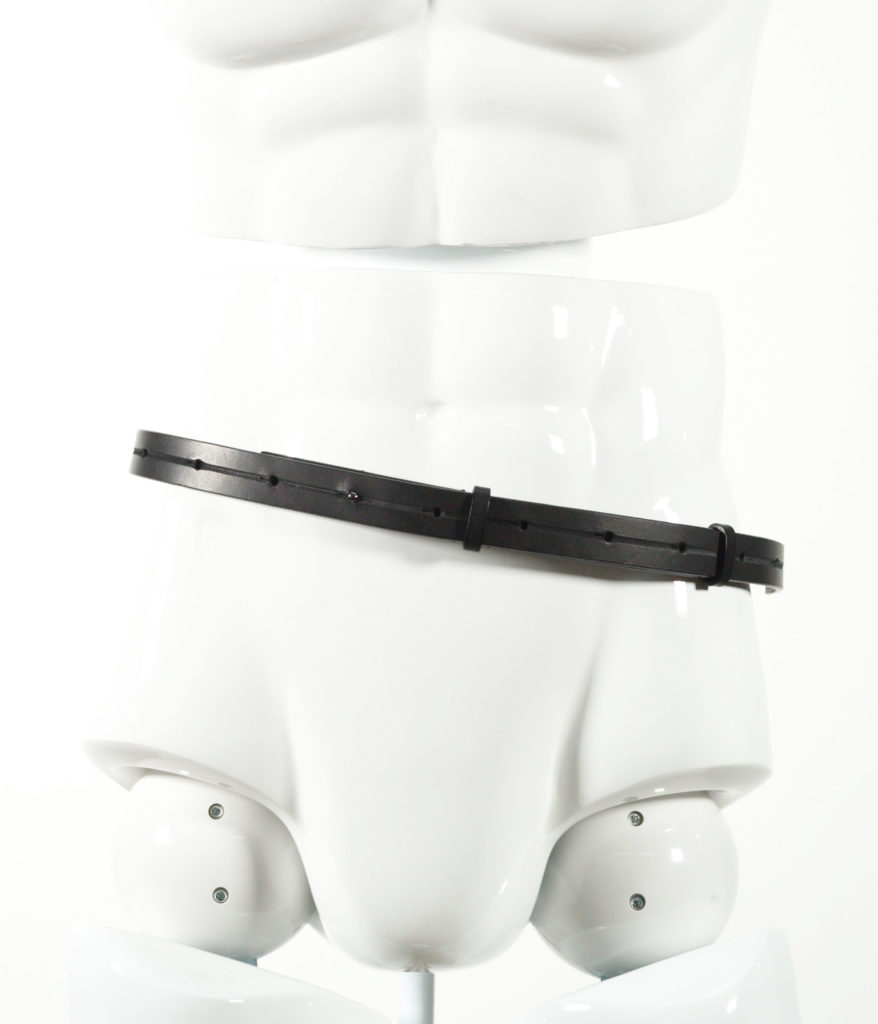 LEMAIRE THIN LEATHER BELT BLACK