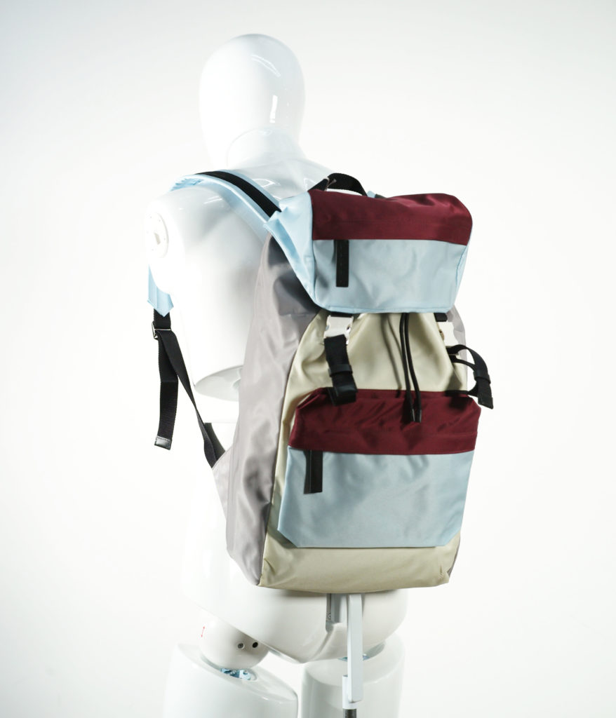 MARNI BACKPACK C.RED-L.BLUE-VANILLA-MERCURY