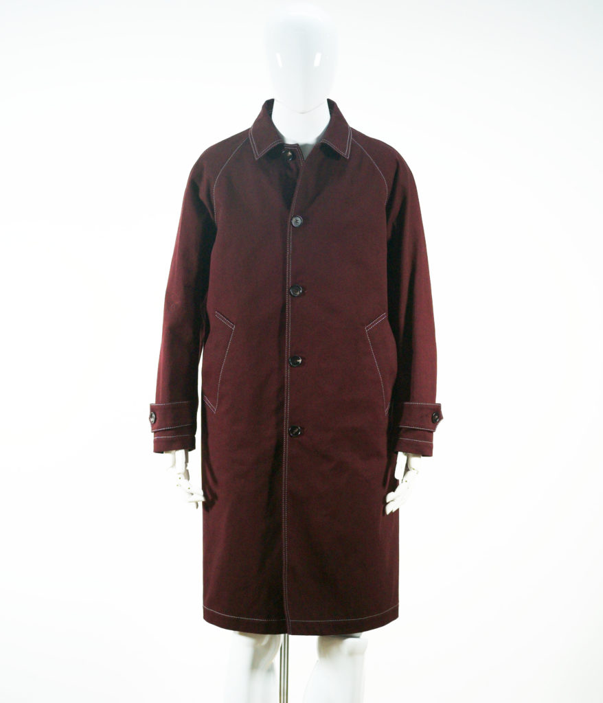 MARNI JACKET COAT COTTON DRILL BORDEAUX