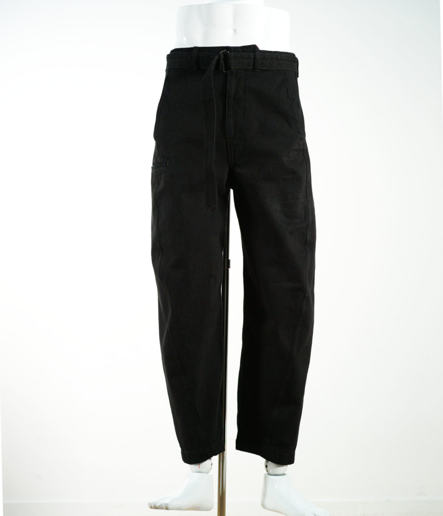 LEMAIRE TWISTED CHINO PANTS BLACK