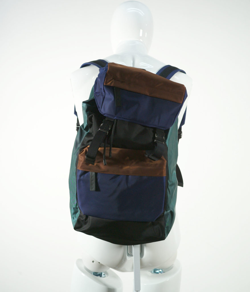MARNI BACKPACK BRAMBLE-ULTRAMARINE-BLACK-N.SEA