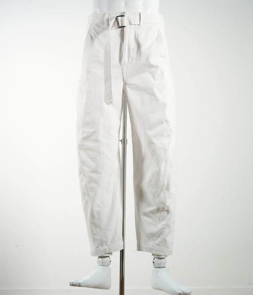 LEMAIRE TWISTED CHINO PANTS OFF WHITE