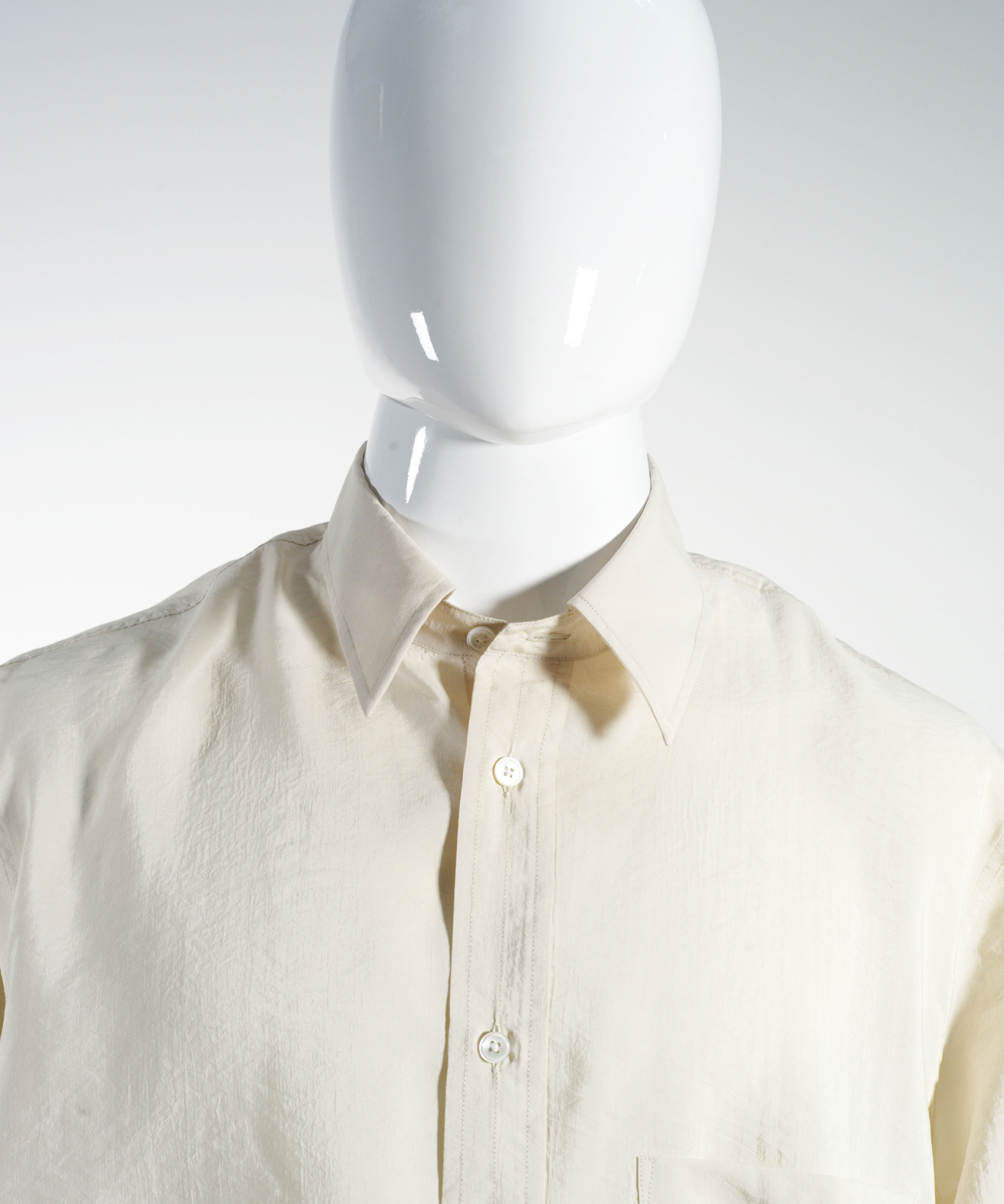LEMAIRE STRAIGHT-COLLAR SHIRT SIENNA