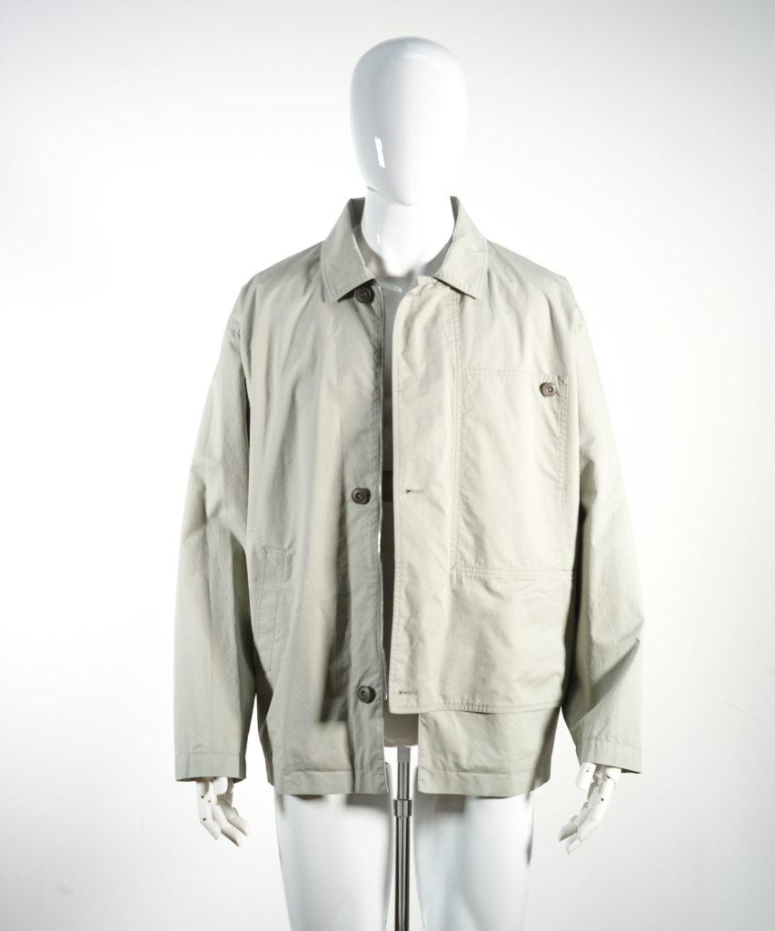 LEMAIRE ASYMETRICAL JACKET WARM GREY