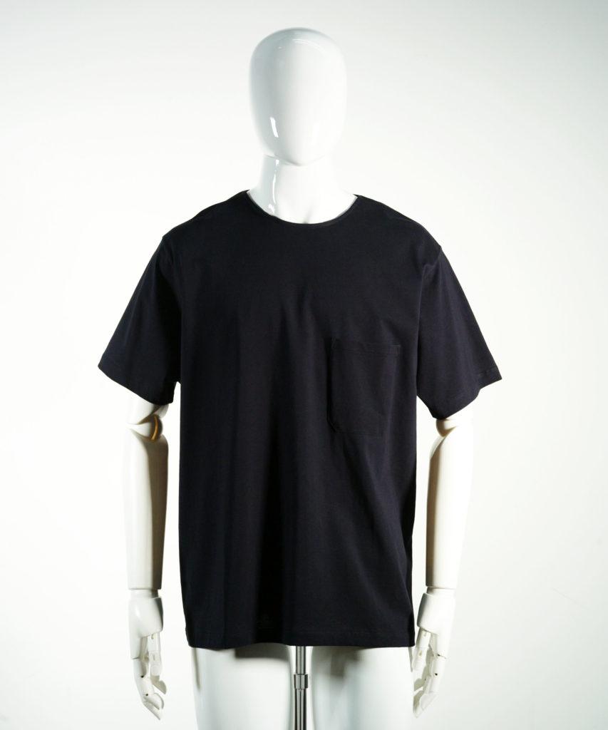 LEMAIRE SHORT SLEEVE T-SHIRT BLUE BLACK