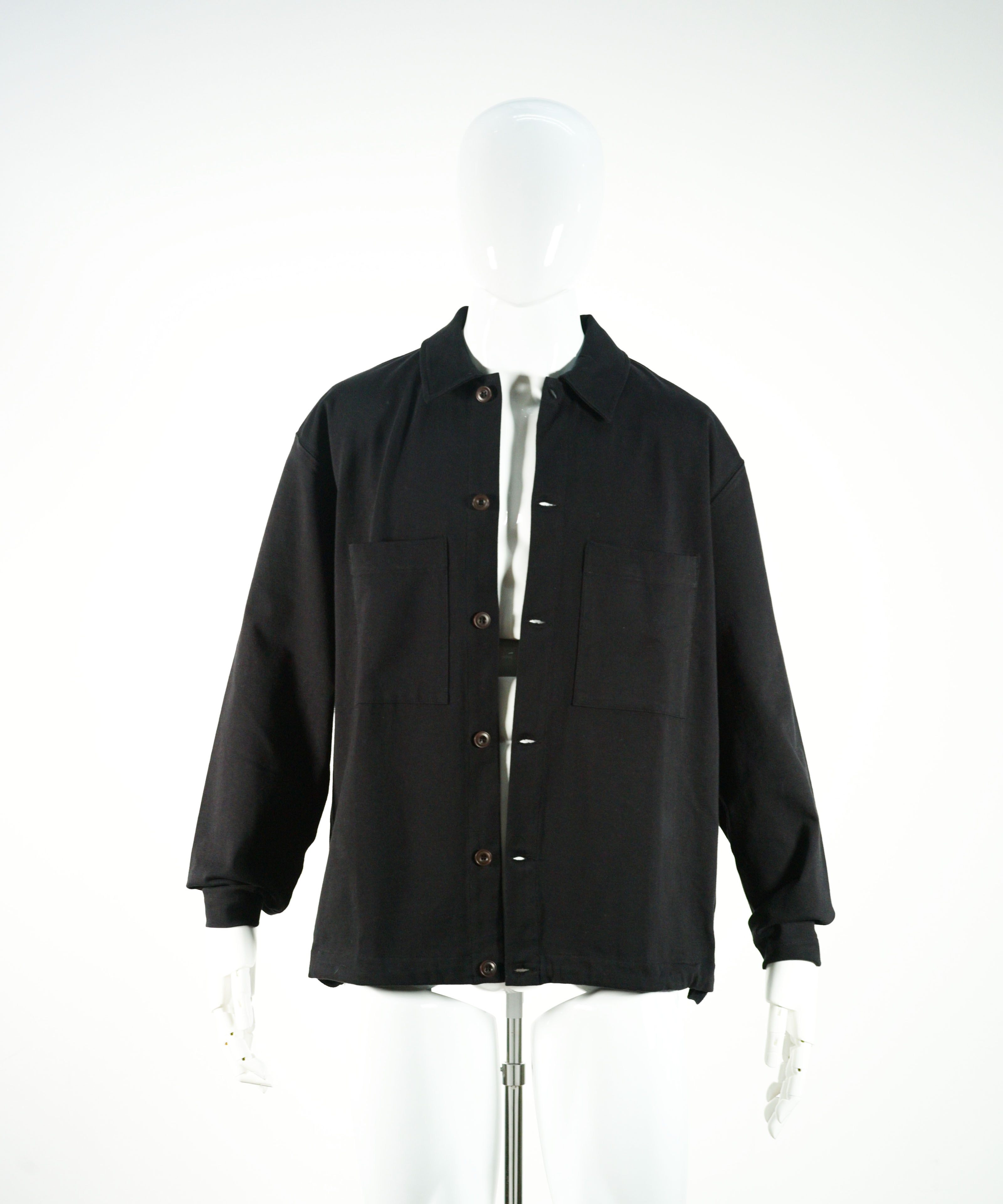 LEMAIRE JERSEY OVERSHIRT BLACK