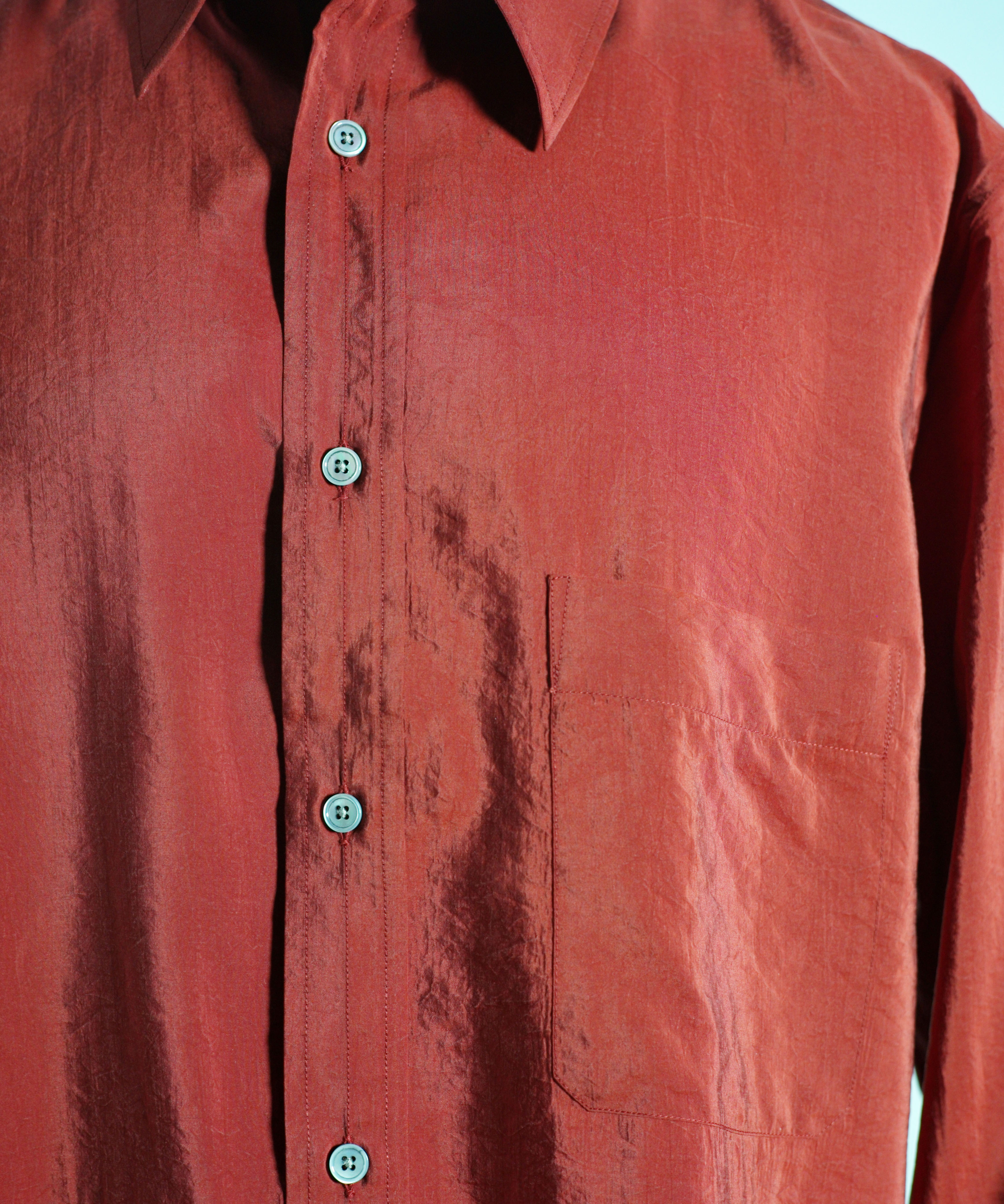 LEMAIRE STRAIGHT-COLLAR SHIRT BISCUIT