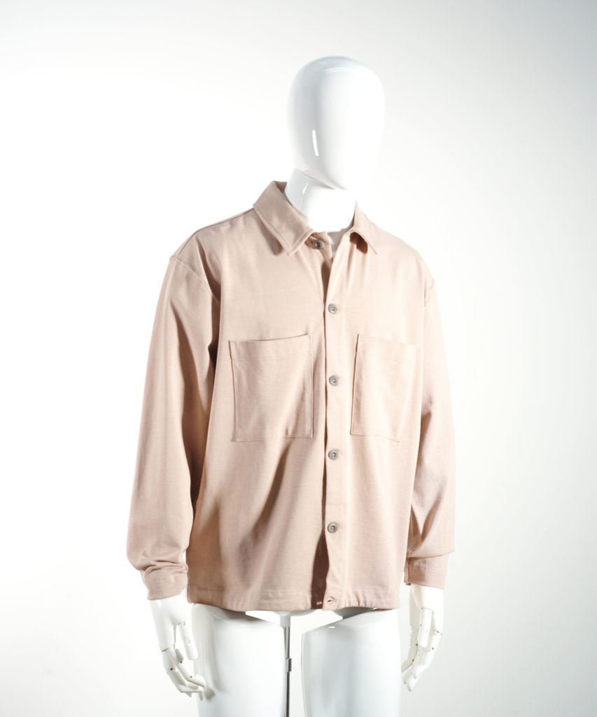 LEMAIRE JERSEY OVERSHIRT SMOKED PINK