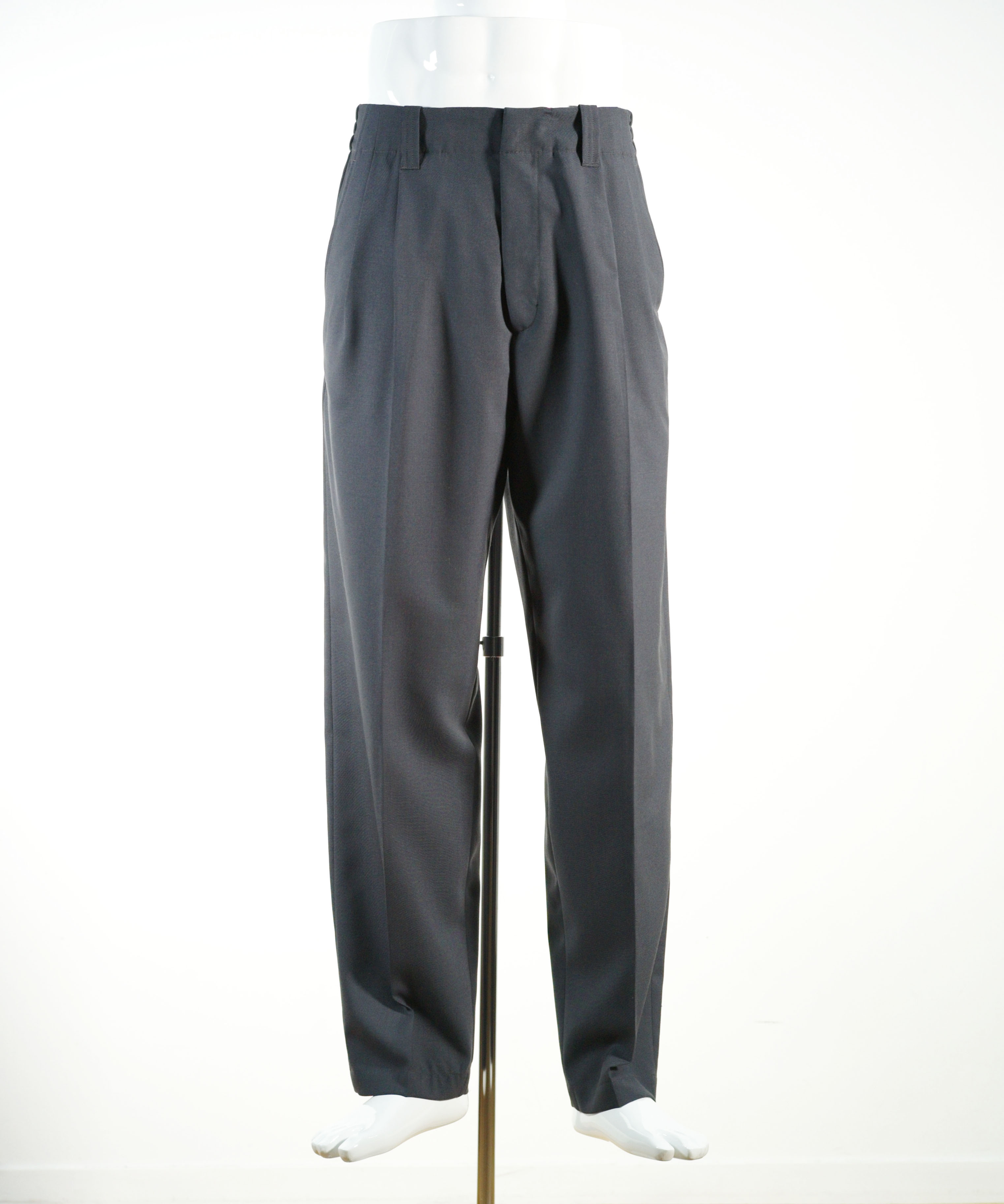 MARNI TROPICAL WOOL PANTS LIGHT GRAY