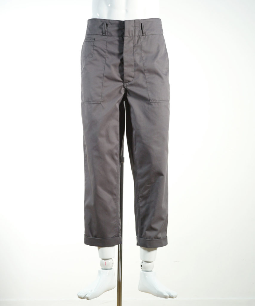 MARNI WORKWEAR GABADINE PANTS GREY