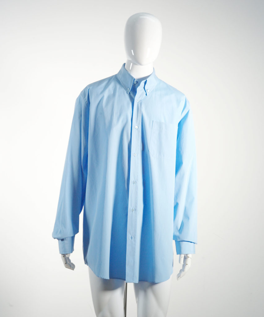 MARNI COTTON POPLIN LONG SLEEVE SHIRT LIGHT BLUE