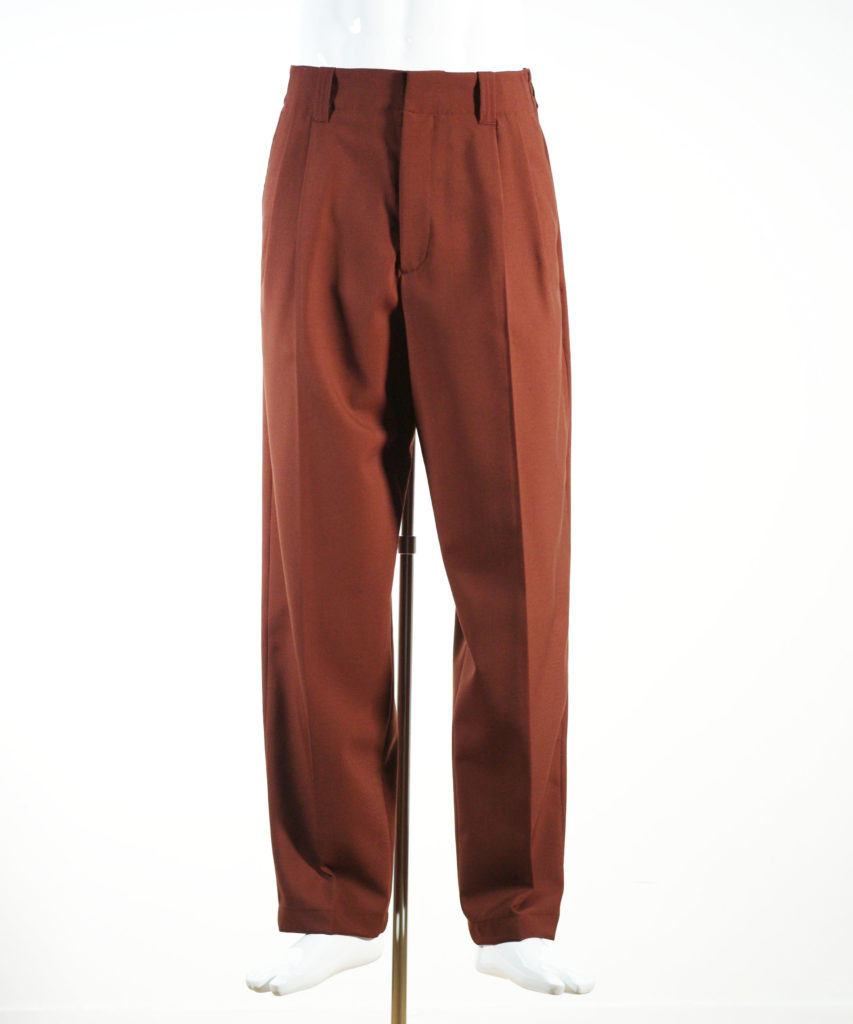 MARNI TRIPICAL WOOL PANTS BROWN