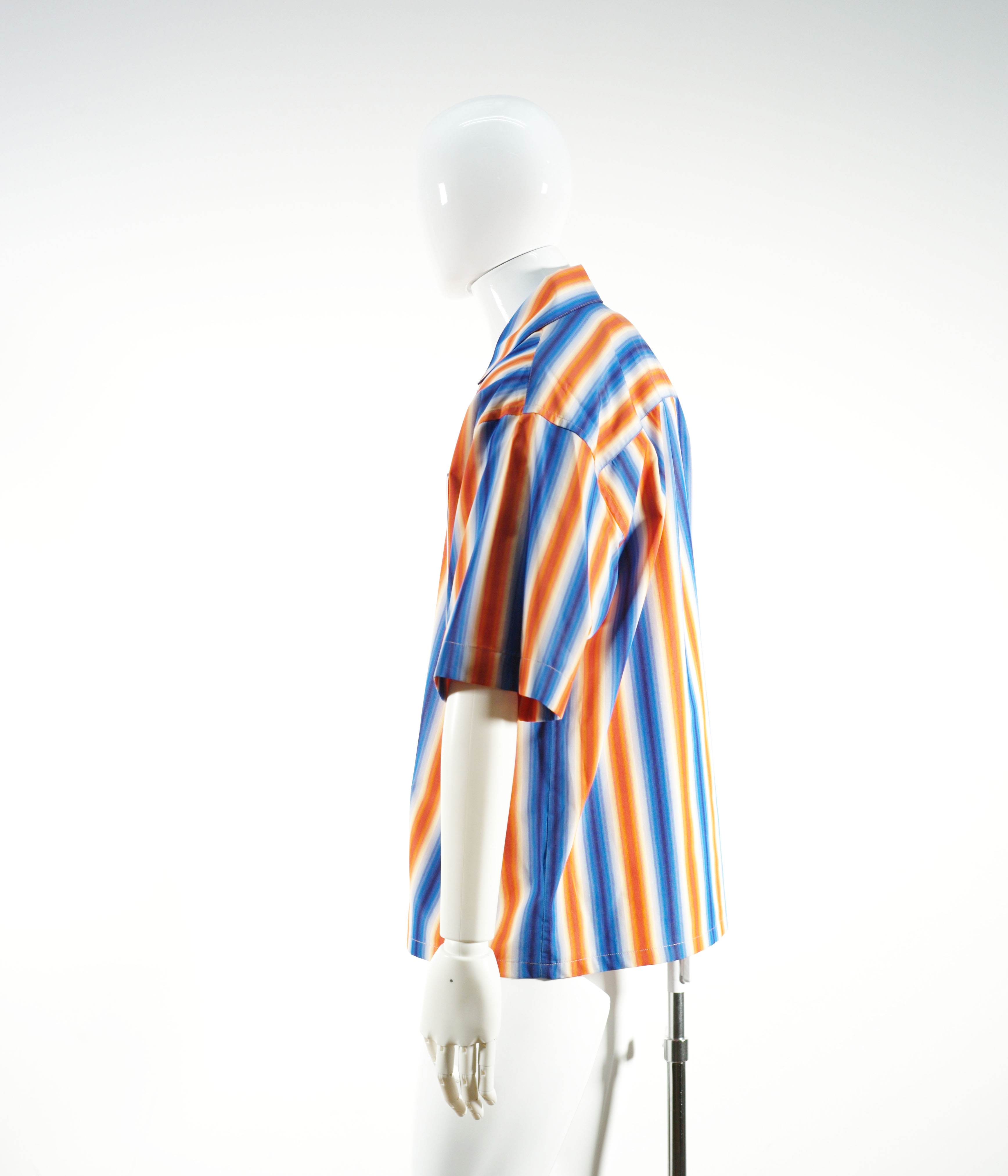 MARNI DEGRADE STRIPE SHIIRT BLUE-ORANGE