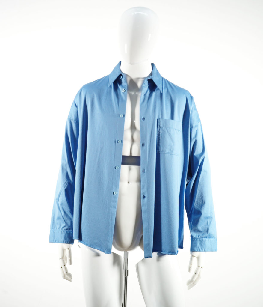 MARNI LIGHTWEIGHT JERSEY SHIRT LIGHT BLUE