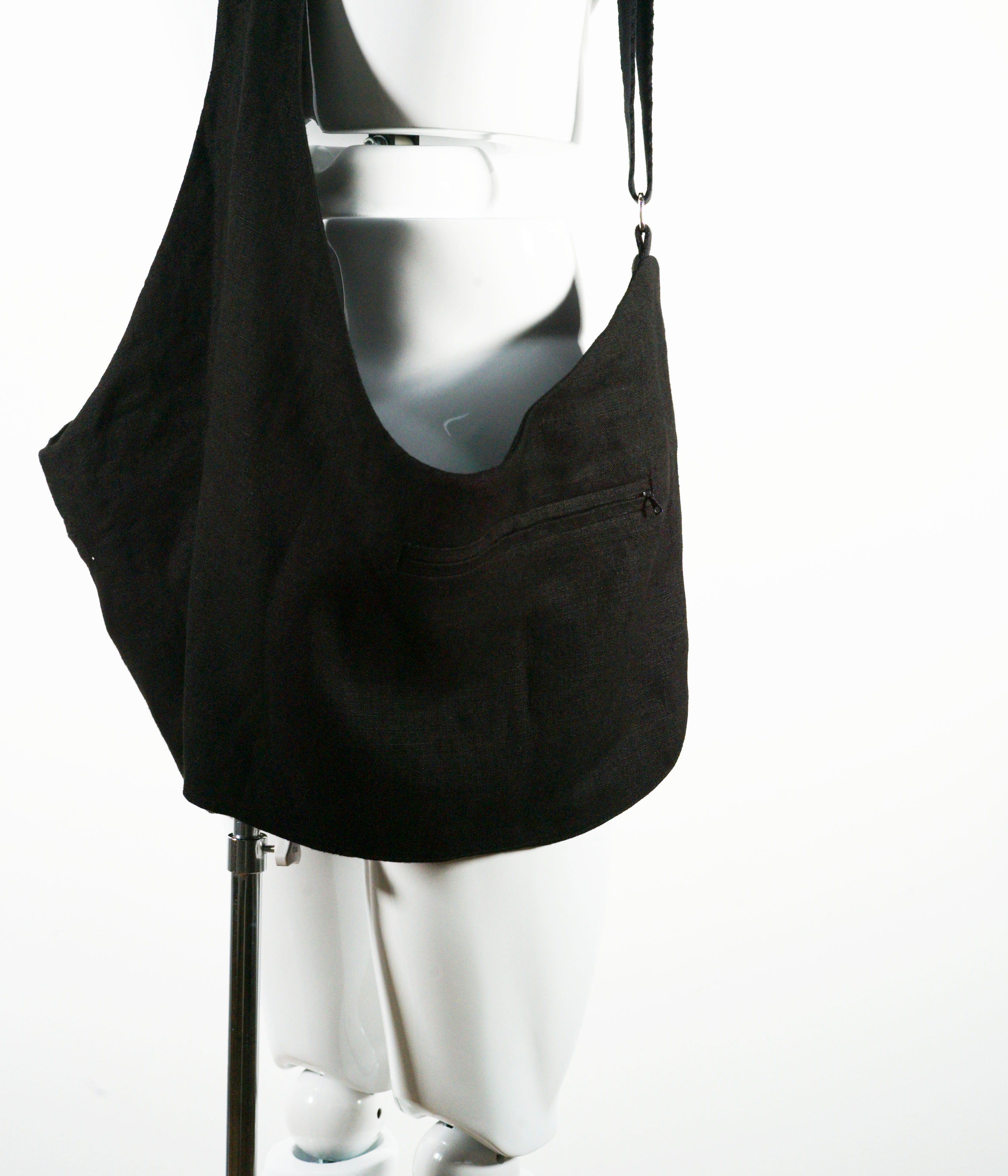 BLESS THE STAND UP COMEDY DEMIMOORE BAG BLACK LINEN
