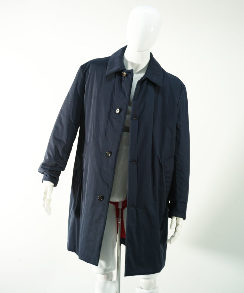 MARNI NYLON TWILL COAT BLUE NAVY