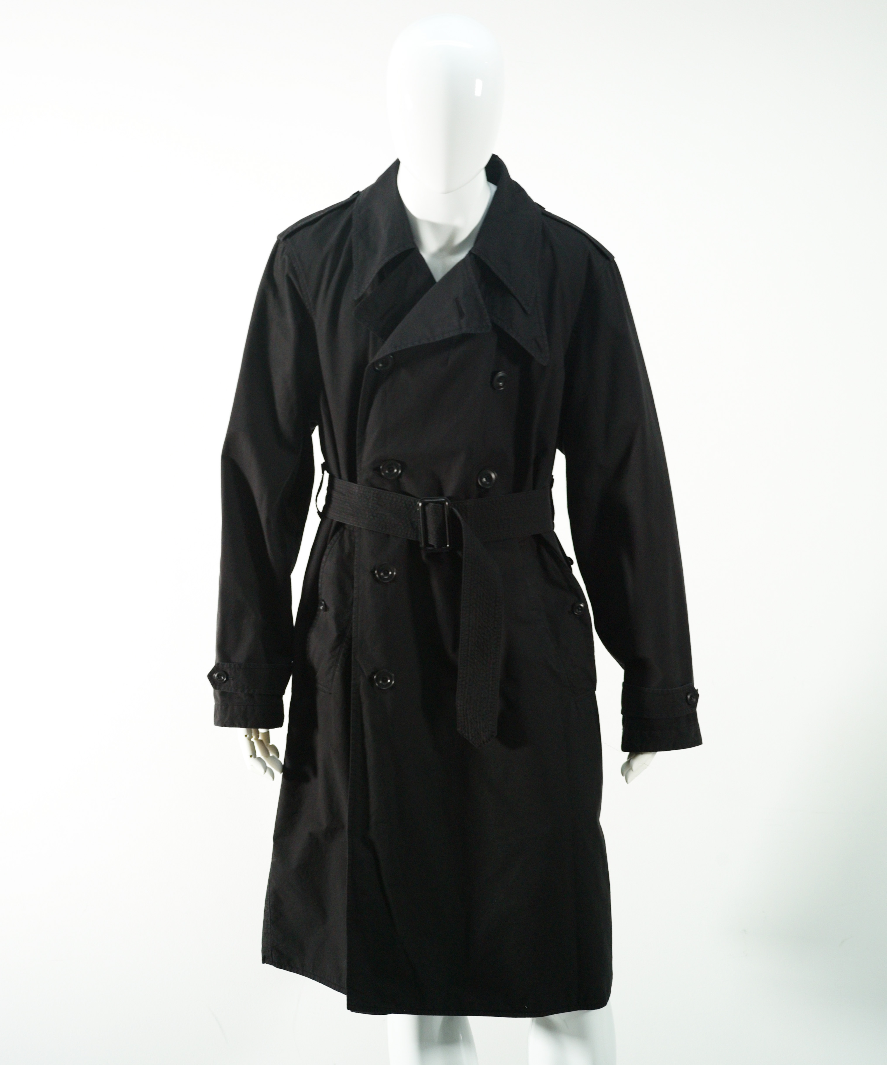 LEMAIRE TRENCH-COAT BLACK
