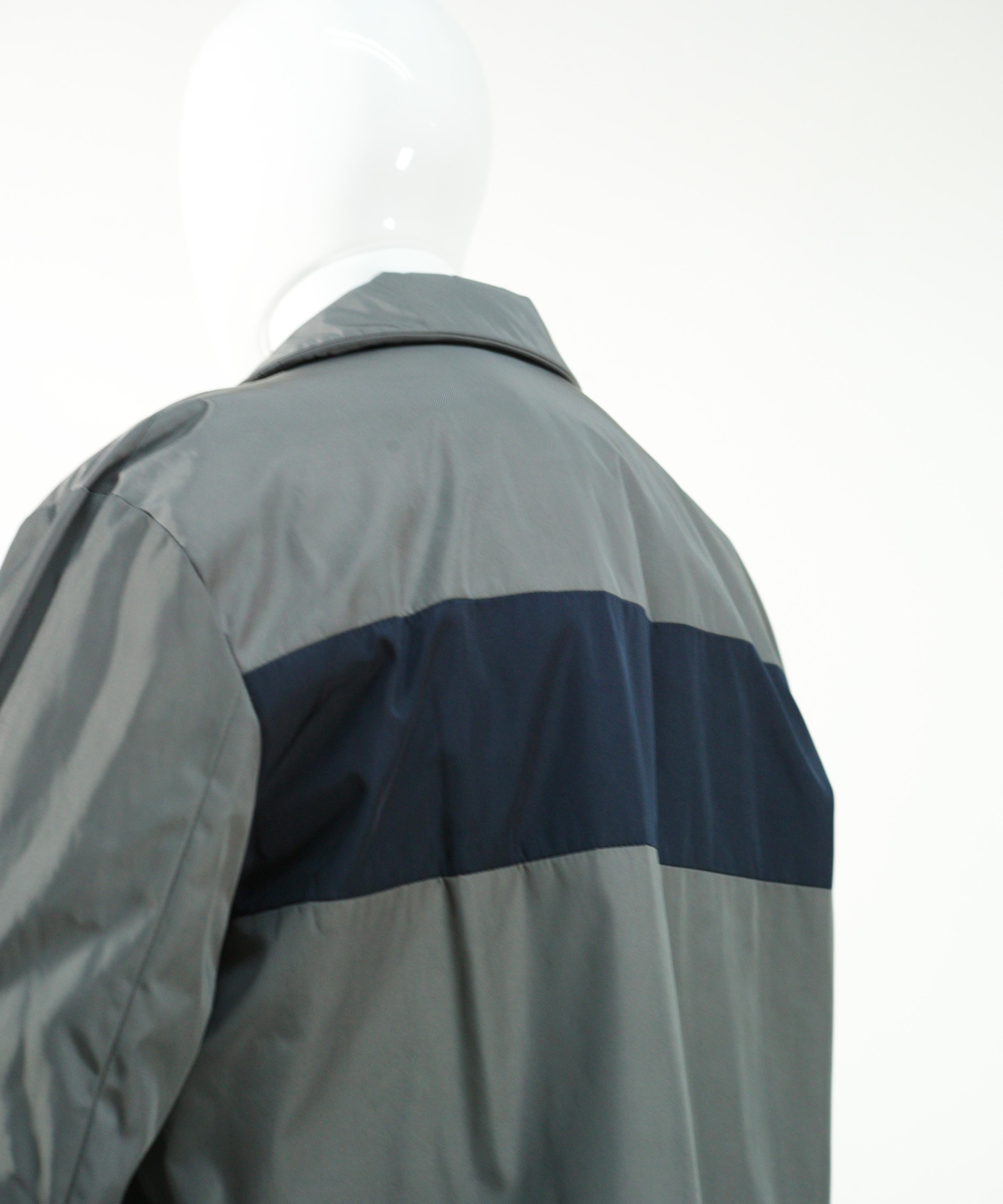 MARNI NYLON TWILL COAT BLUE NAVY