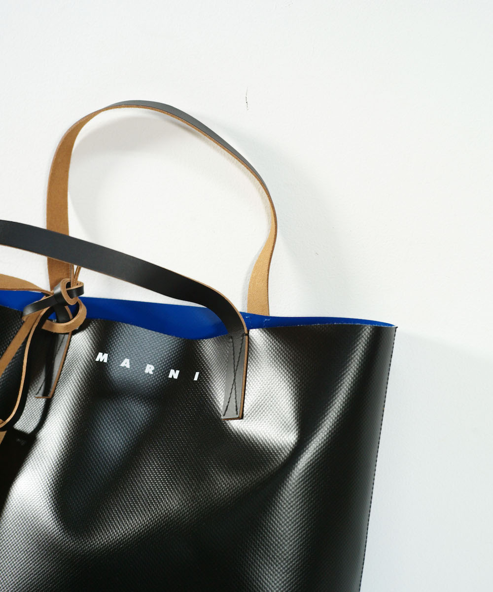 MARNI BICOLOR TOTE BAG MAZARINE BLUE + BLACK