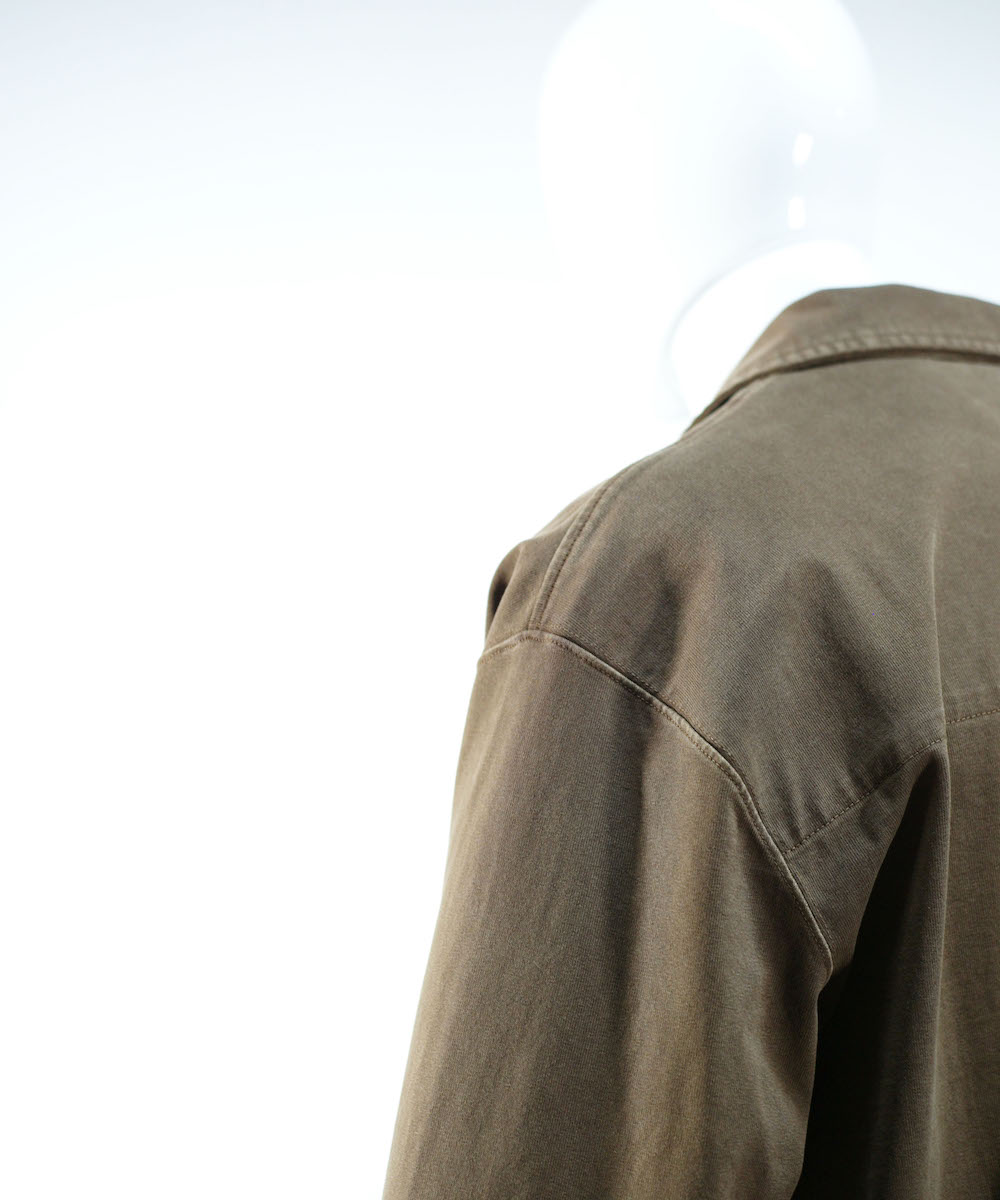LEMAIRE JERSEY OVERSHIRT DARK EARTH