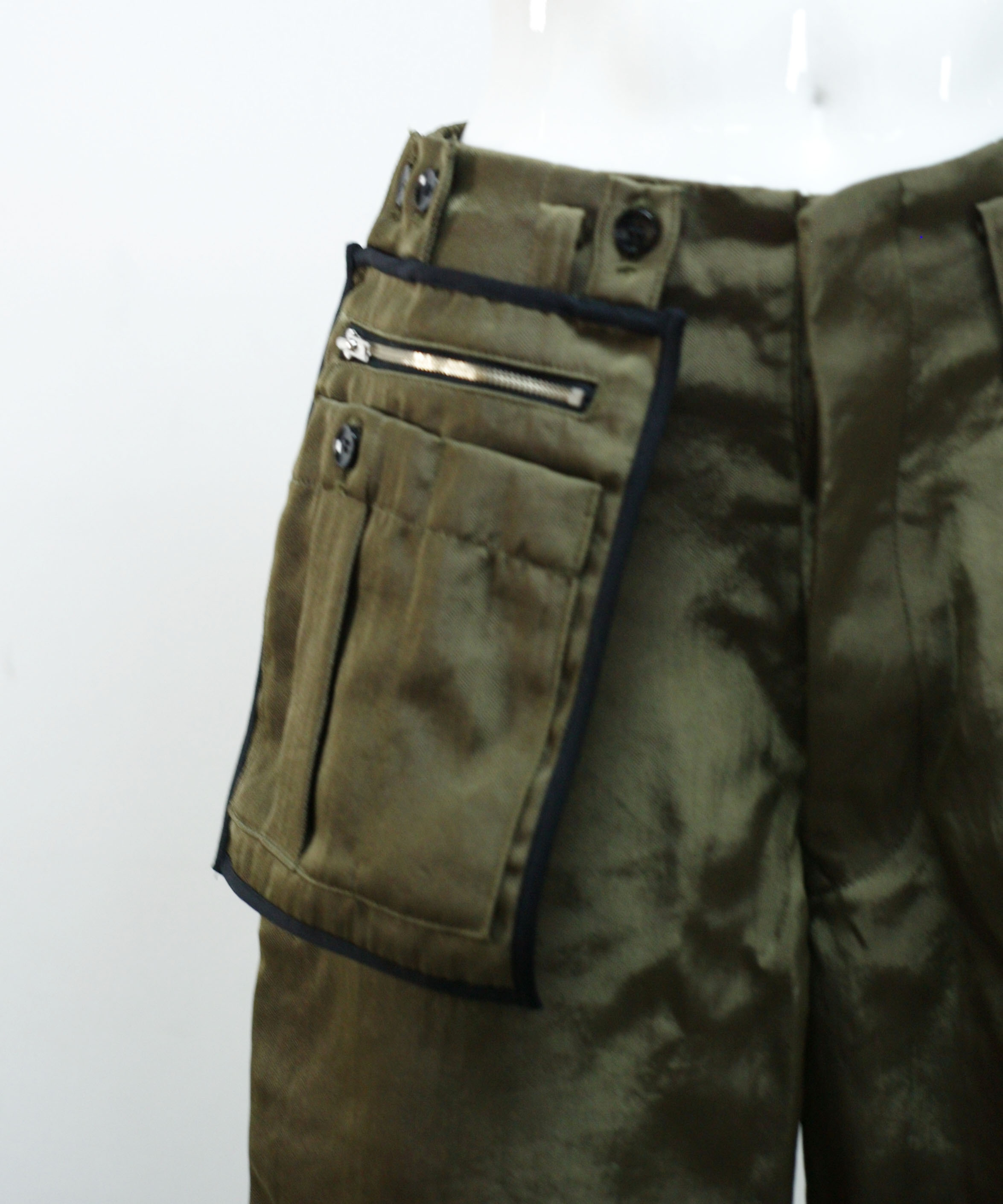 amachi. DETACHIABLE POCKET WORK PANTS