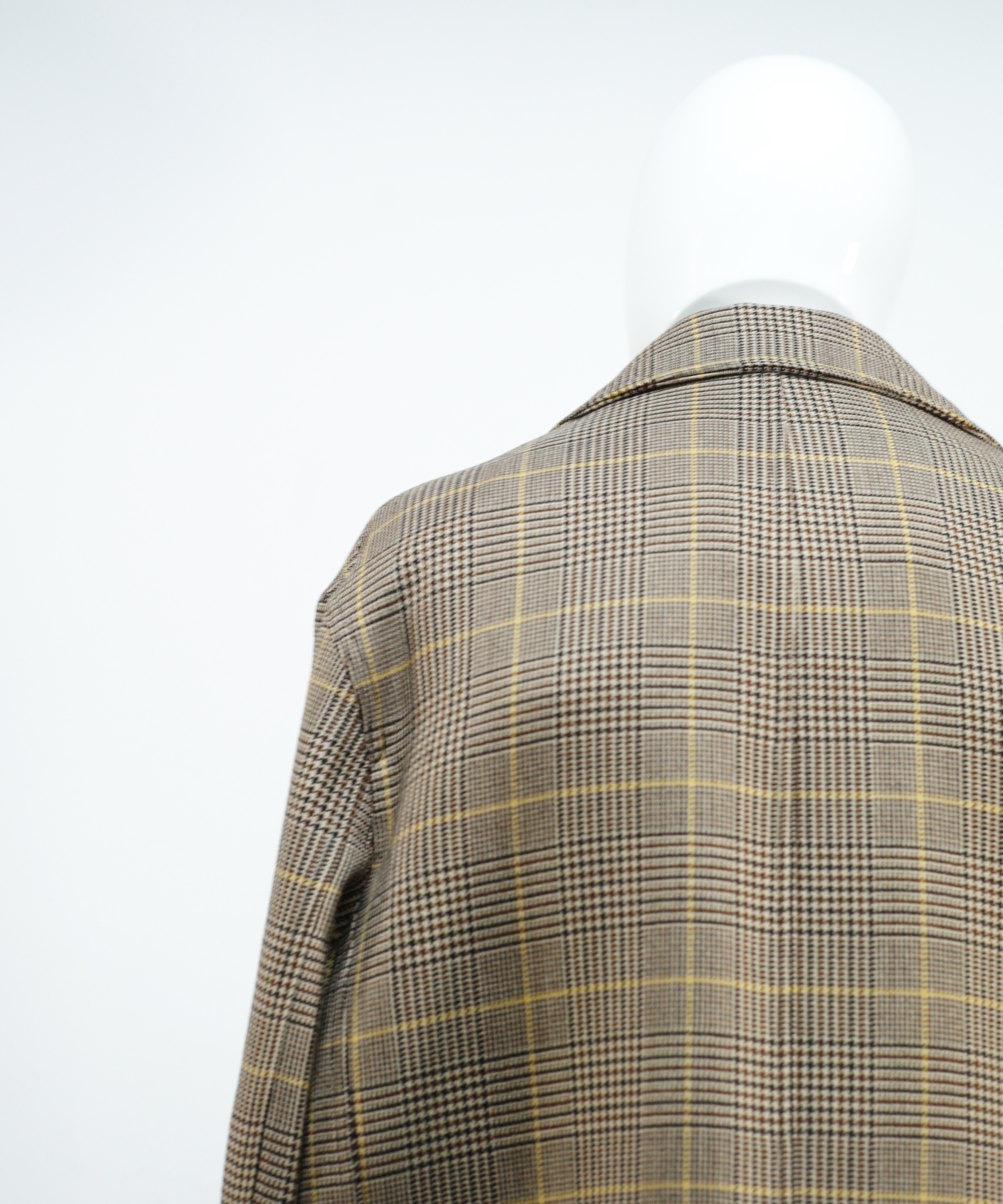 MARNI PLAID OVERSIZE STRAIGHT COAT