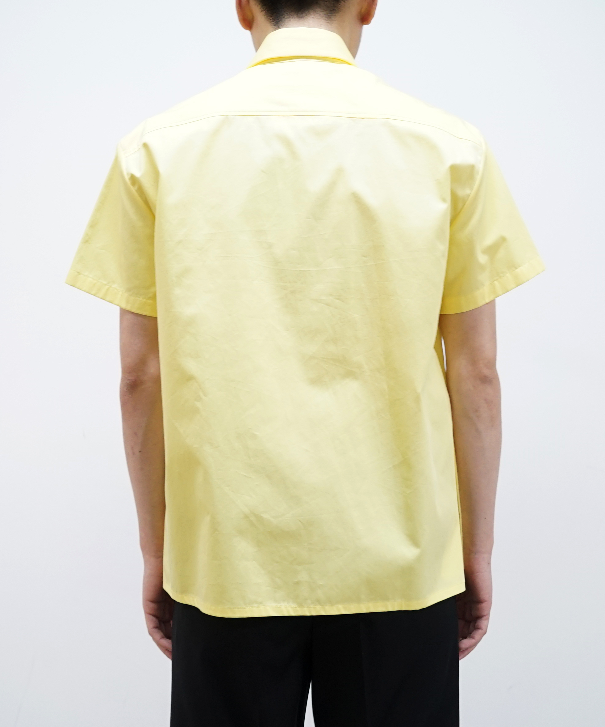 NAMACHEKO KAJAL SHORT SLEEVE SHIRT LEMON YELLOW