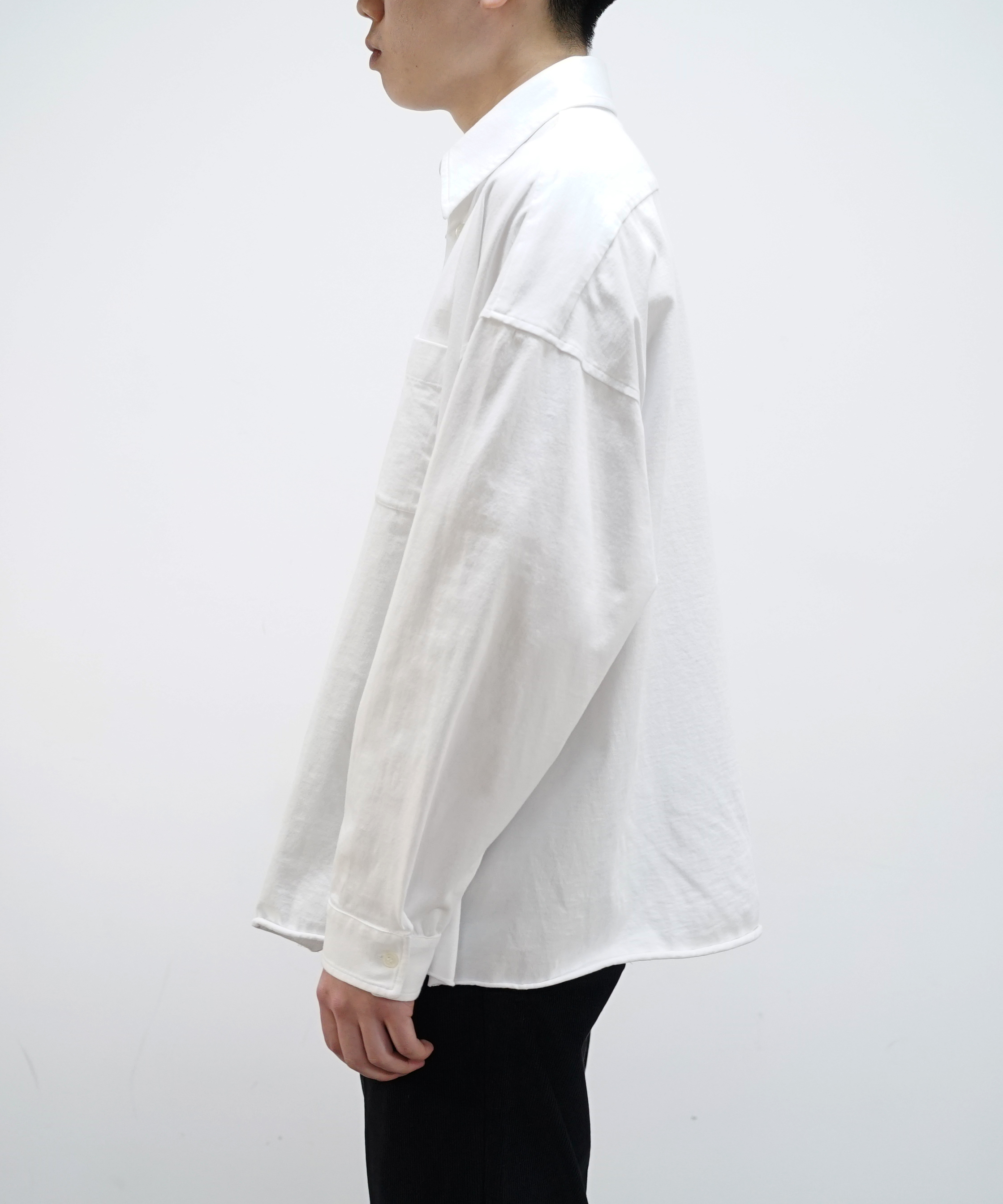 MARNI LIGHTWEIGHT JERSEY SHIRT WHITE