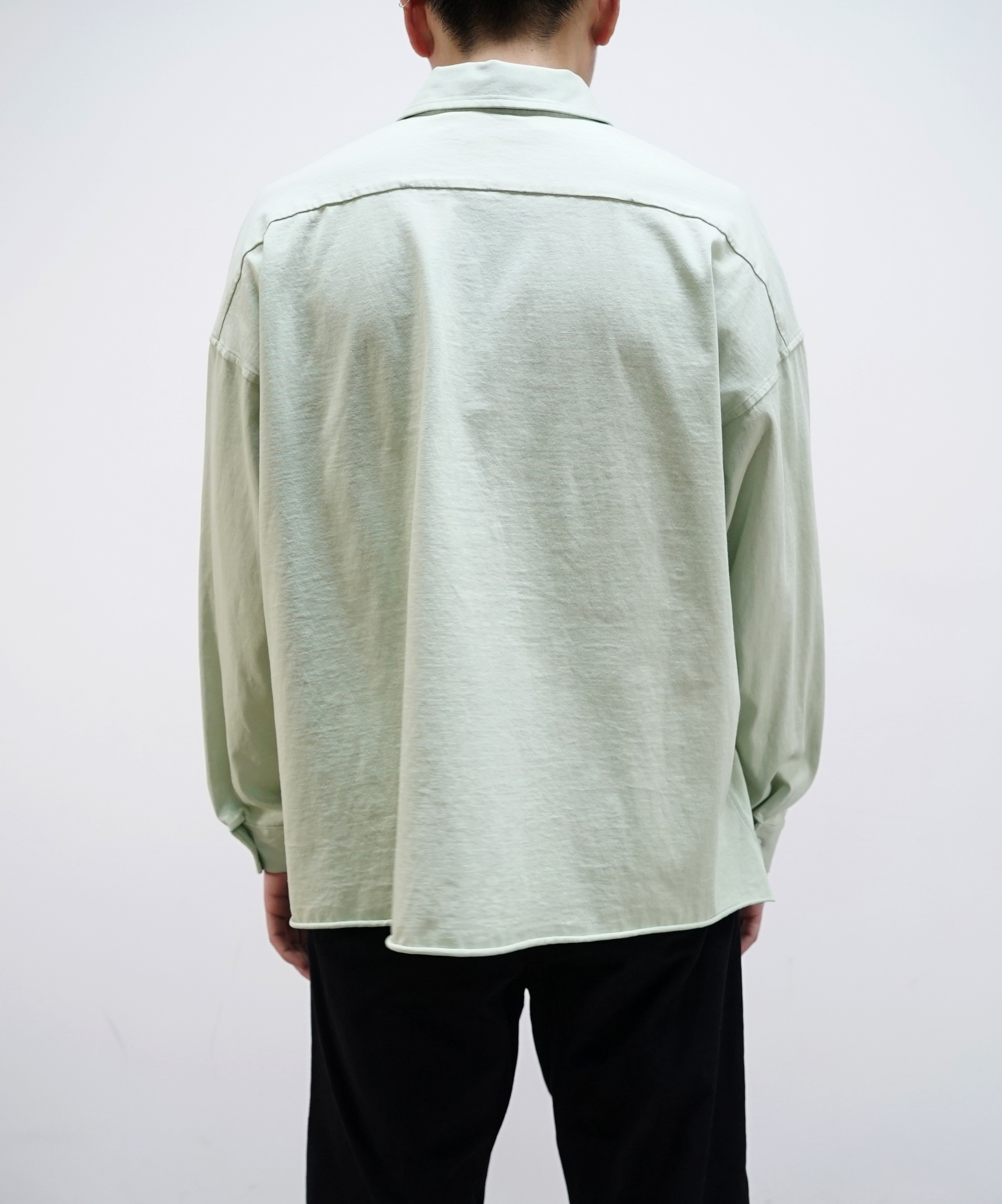 MARNI LIGHTWEIGHT JERSEY SHIRT LIGHT GREEN